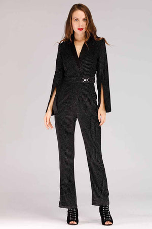 SHINY VELVET JUMPSUIT