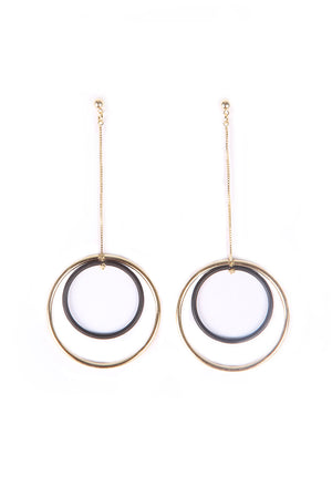DROP DOWN RINGS EARRINGS - Mantra Pakistan