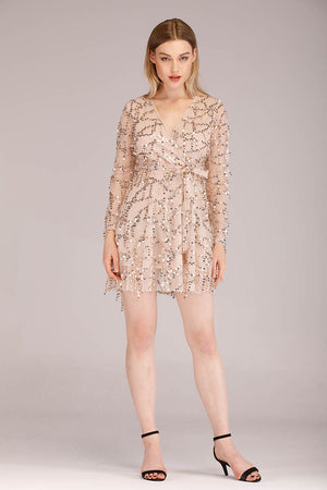 Mantra Pakistan DANGLING SEQUINS MINI DRESS | DRESS