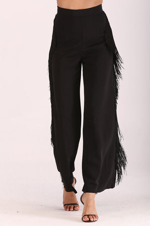 PANTS WITH SIDE FRINGES