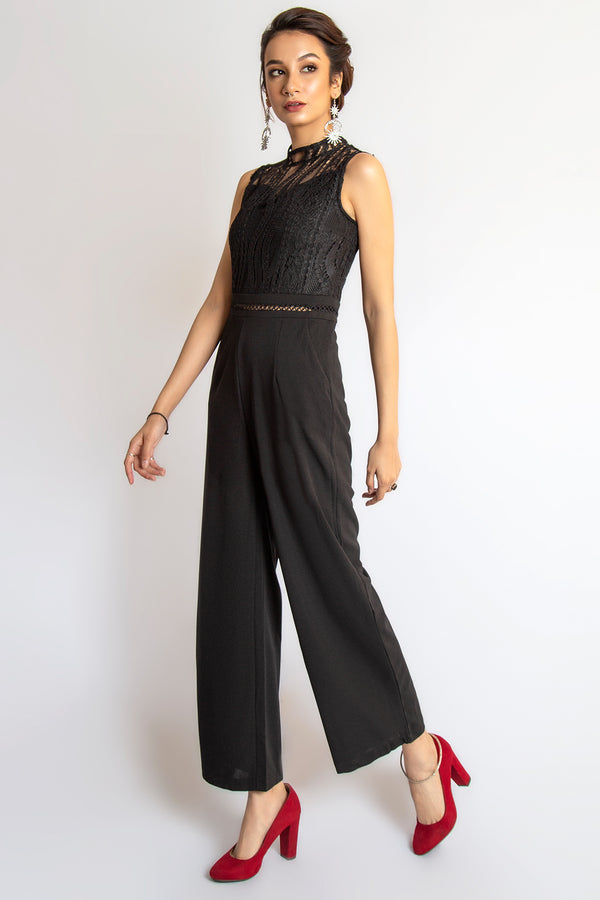 Mantra Pakistan Sleevelss lace  jumpsuit | Western Wear