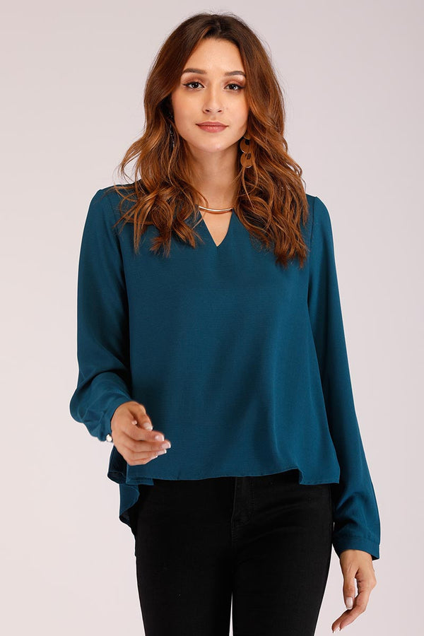 Mantra Pakistan SOLID COLORED METAL KEYHOLE TOP | TOPS