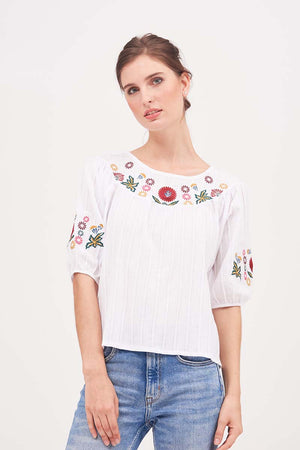 Mantra Pakistan BOHO EMBROIDERED TOP | TOPS