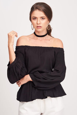 Mantra Pakistan BLACK OFF SHOULDER TOP | TOPS