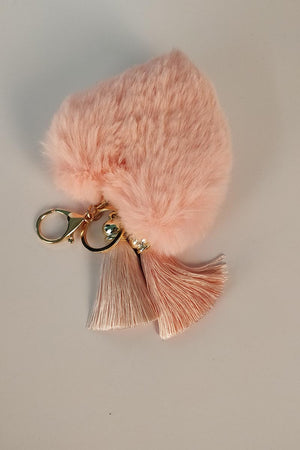 Mantra Pakistan HEART SHAPED FUR KEY CHAIN | ACCESSORIES