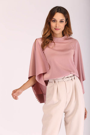Mantra Pakistan ROSE PINK SLIT SLEEVE TOP | TOPS
