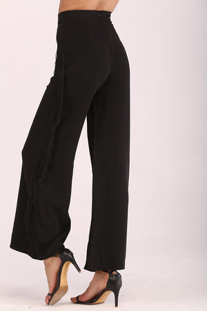 Mantra Pakistan PANTS WITH SIDE FRINGES | BOTTOMS