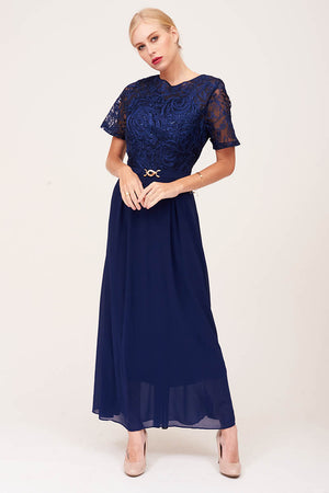 Mantra Pakistan NAVY EMBROIDERED PARTY DRESS | DRESS