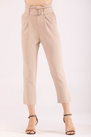 SOLID COLORED CROPPED PANTS