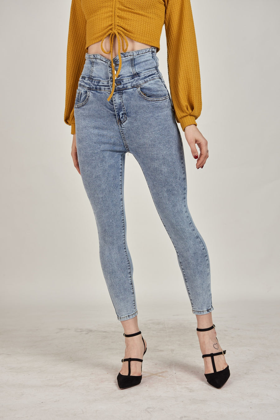 Mantra Pakistan High Waisted Jeans | BOTTOMS