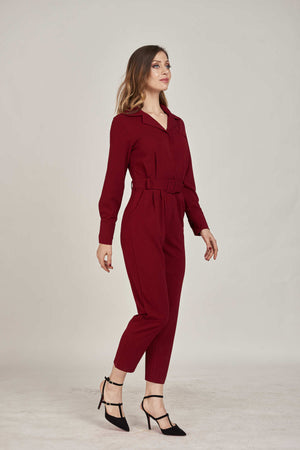 Mantra Pakistan Red Jumpsuit | DRESS