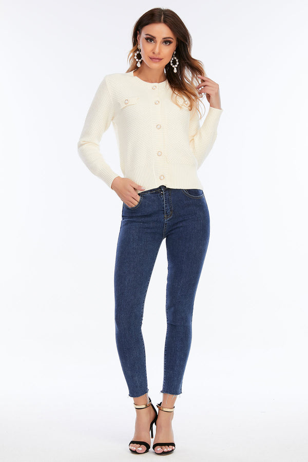 Mantra Pakistan High Waisted Jeans With Shapped Buckle | Western Wear