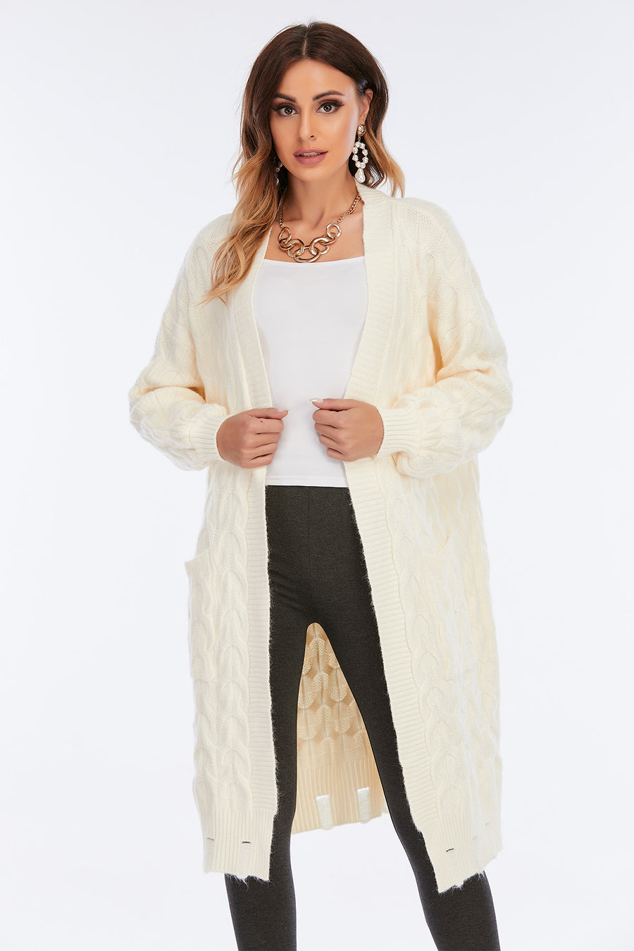 Mantra Pakistan CABLE KNIT CARDIGAN | Western Wear