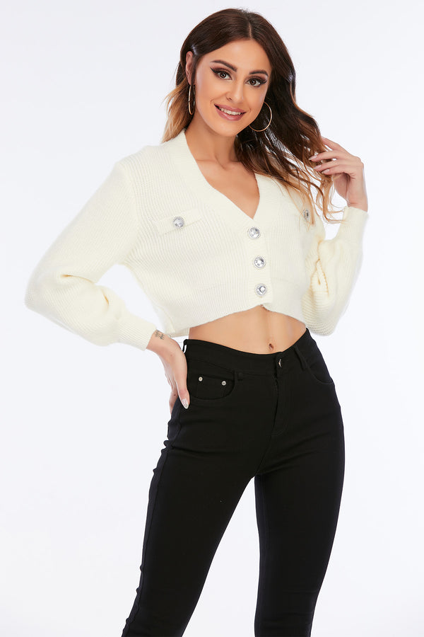 Mantra Pakistan SWEATER WITH DIAMOND BUTTONS | Western Wear