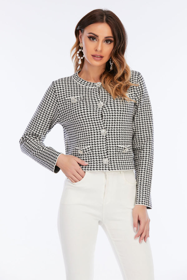 Mantra Pakistan Houndstooth Jacket with Side Pockets | Western Wear