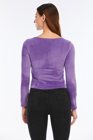 Mantra Pakistan PURPLE SWEETHEART NECK TOP | Western Wear