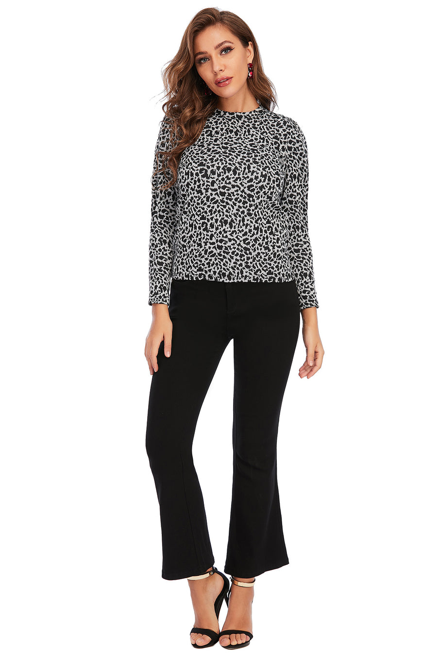 Mantra Pakistan CHEETAH Puffy SLEEVES TOP | Western Wear