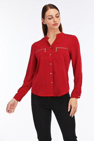 Mantra Pakistan Blouse with zip pocket | Western Wear