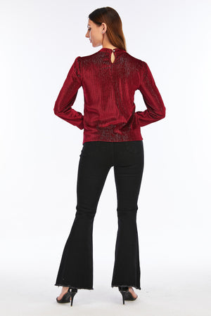 Mantra Pakistan RED GLITTER TOP | Western Wear