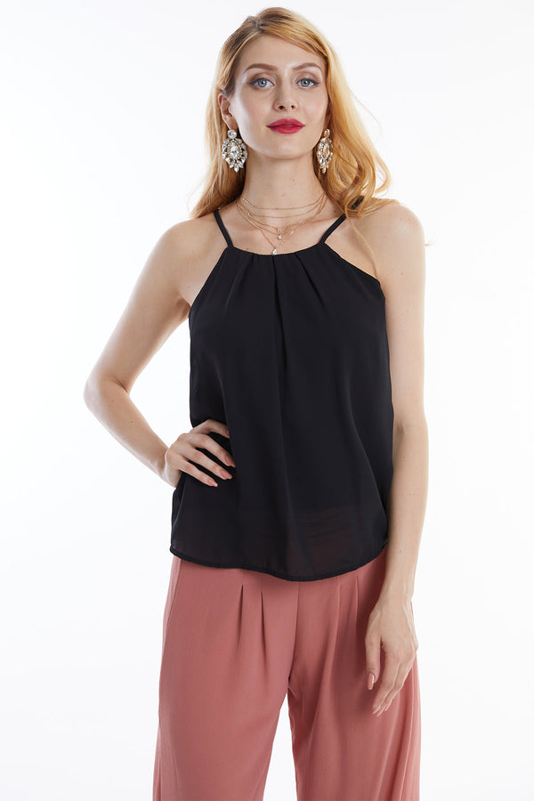 Front Pleated Tank Top