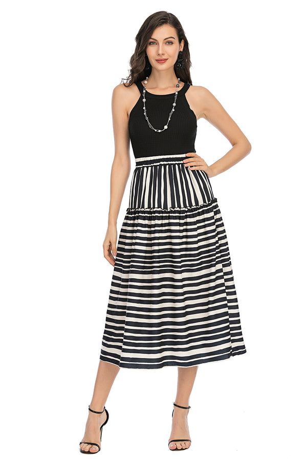 Mantra Pakistan Striped long skirt | Western Wear