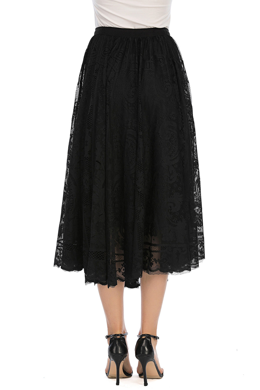 Mantra Pakistan Lace skirt | Western Wear