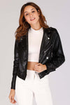 SHINY BLACK SNAKE PRINT JACKET
