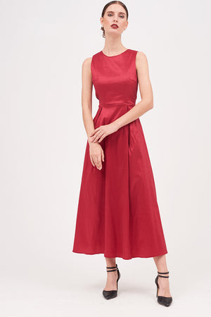 SOLID COLORED TUELLE DRESS