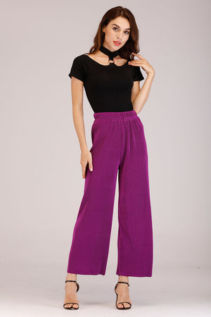 Mantra Pakistan SOLID COLORED PLEATED PANTS | BOTTOMS