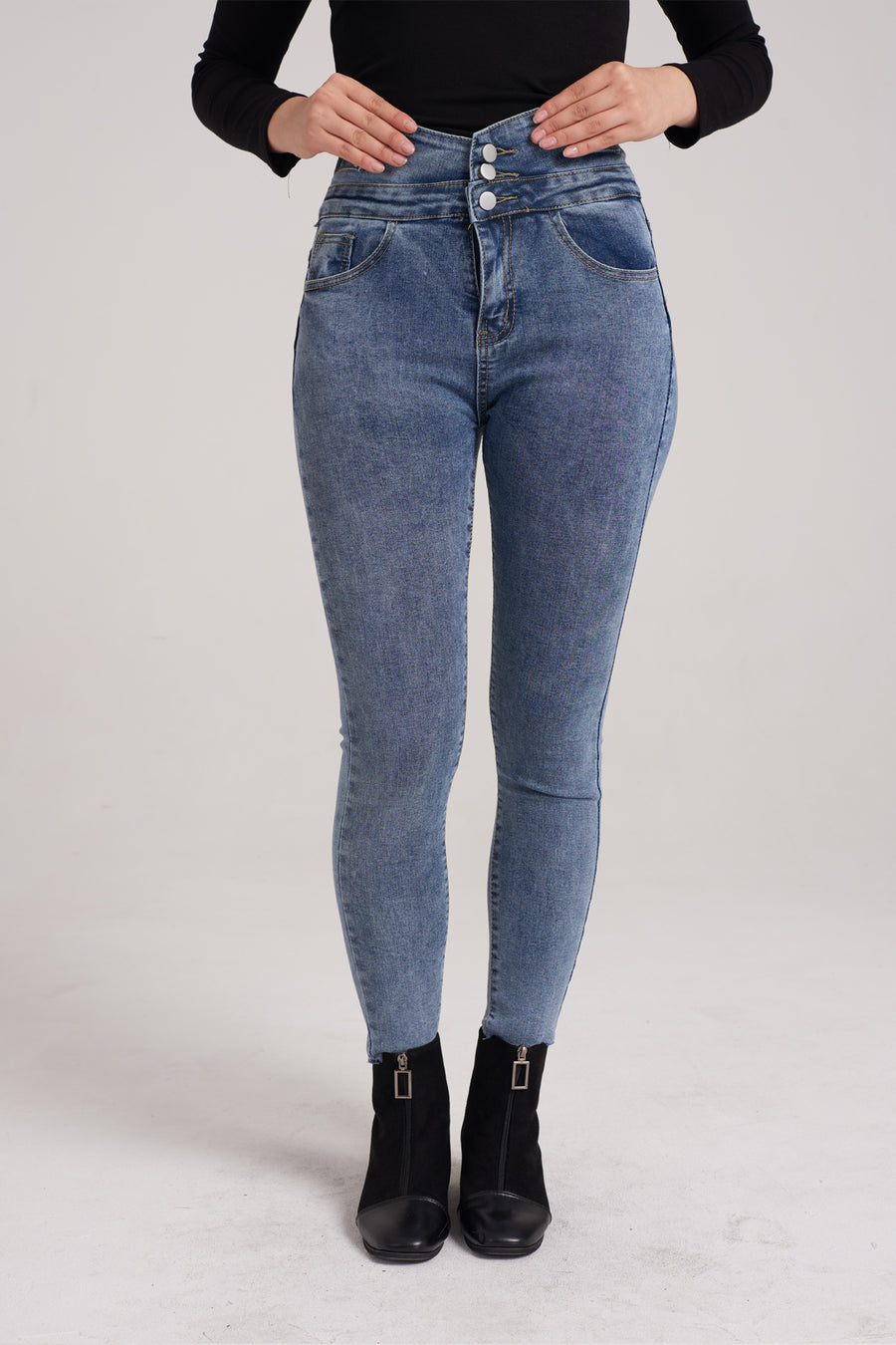 Mantra Pakistan High Waist Denim Jeans | BOTTOMS