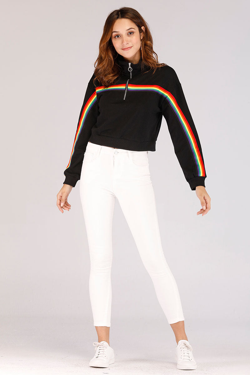 RAINBOW STRIPES SWEATSHIRT