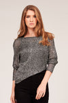 SEQUIN ASYMMETRICAL SWEATER