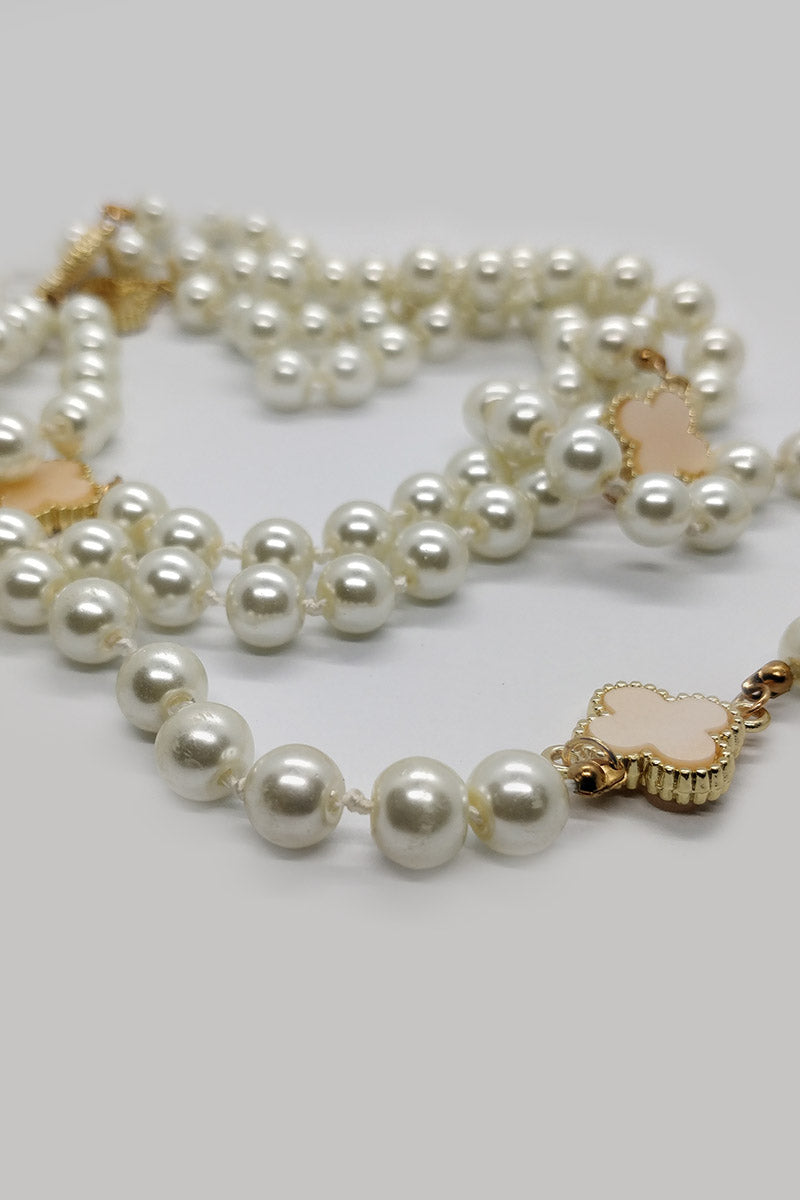 Mantra Pakistan Long Dangling Pearl Necklace | ACCESSORIES