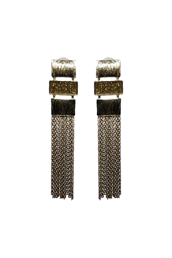 CASCADING RECTANGLES EARRINGS - Mantra Pakistan