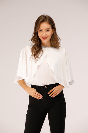 White Cape Top