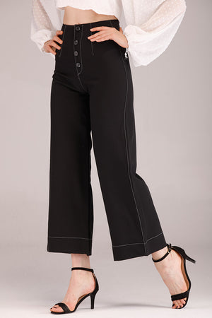 Mantra Pakistan PANTS WITH FRONT BUTTONS | BOTTOMS