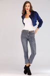 ASYMMETRICAL WAIST BAND JEANS