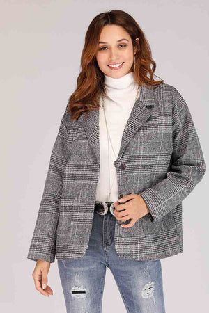 Mantra Pakistan CHECKERED BLAZER | OUTERWEAR