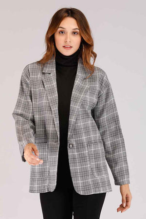 Mantra Pakistan PLAID JACKET | OUTERWEAR