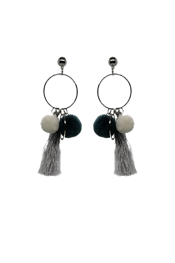 Mantra Pakistan TASSELED HOOPS EARRINGS | ACCESSORIES