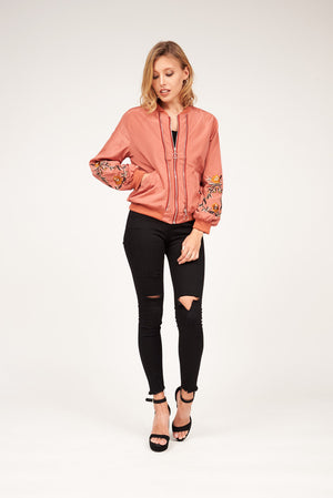 Mantra Pakistan EMBROIDERED BOMBER JACKET | OUTERWEAR