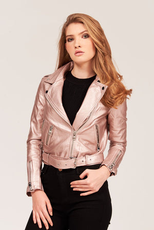 Mantra Pakistan METALLIC FAUX LEATHER JACKET | OUTERWEAR
