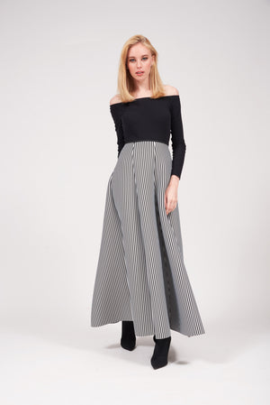 Mantra Pakistan LONG STRIPED SKIRT | BOTTOMS