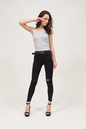 Mantra Pakistan BLACK JEANS | BOTTOMS