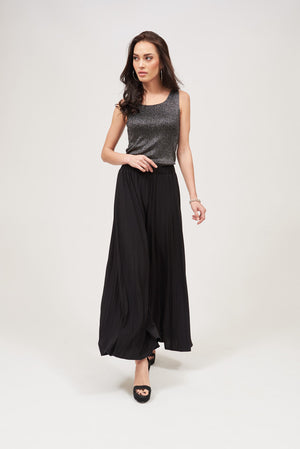 FLARED PLEATED PANTS - Mantra Pakistan