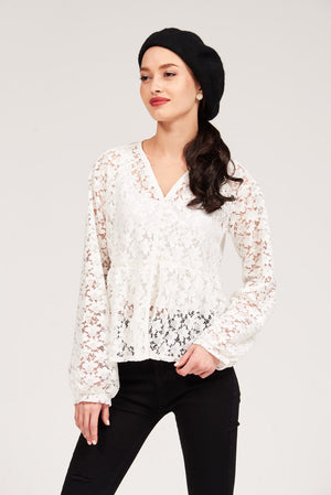 Mantra Pakistan SOLID COLOR LACE TOP | TOPS