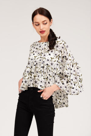Mantra Pakistan FLORAL PRINT BLOUSE | TOPS