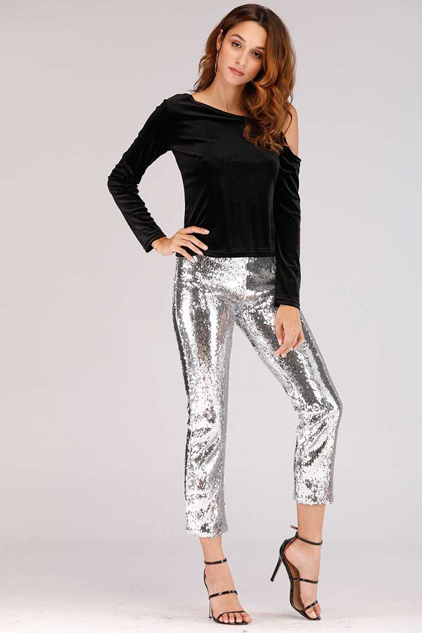 SEQUIN JEGGINGS