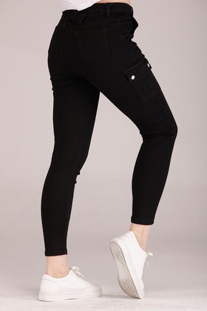 Mantra Pakistan SOLID COLORED CARGO JEANS | BOTTOMS