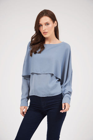 Mantra Pakistan SOLID COLOR OVERLAY TOP | TOPS